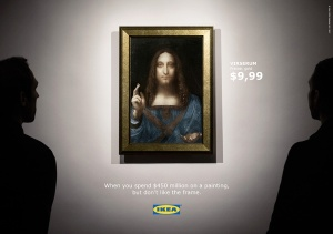 Ikea decides to give a clever and fun jab to the art world